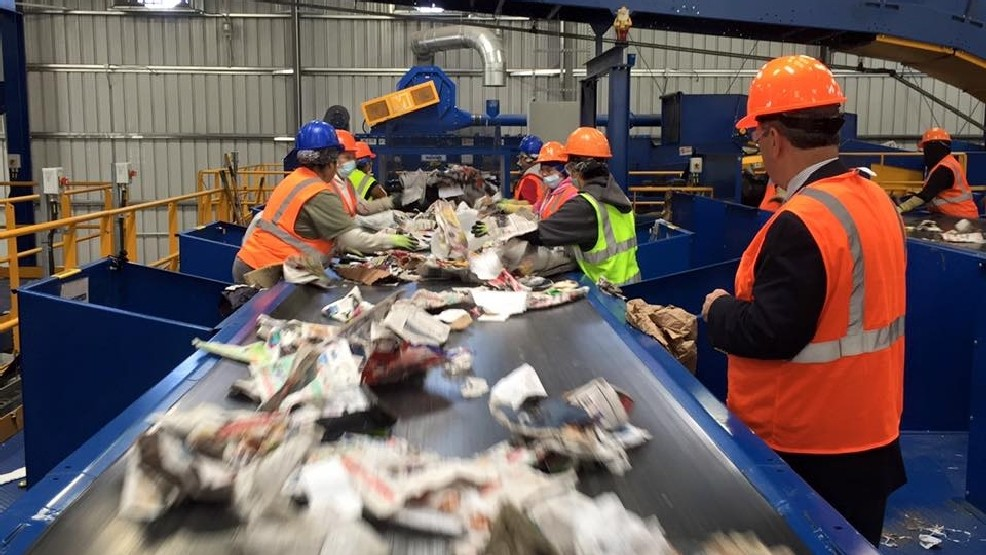 WGXA: City leaders visit Pratt Industries to learn about recycling operations